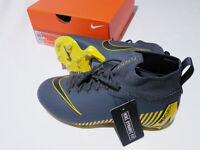 Nike JR Size 6Y Superfly 6 VI Elite FG Soccer Cleats Grey/Yellow AH7340-070