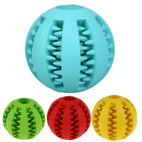 Rubber Ball Dental Treat Cleaning Chew Dispensing Pet Dog Puppy Cat Toy Training