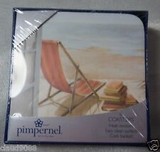PIMPERNEL BY PORTMEIRION LAZY DAYS SQ COASTERS S6 10.5cm GIFT BOXED MINT