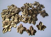 37 pcs. Antique Finish  Brass Stamping - Pretty LEAF shape-larger