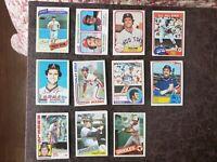 1980-85 Baseball Fred Lynn 37-card lot - Boston Red Sox Legend
