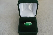 Stunning Classic 14kt. Gold & Jade Ladies Ring