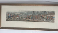 Henry Alken MEETING AT COVER 1824 Framed Etching Prints Aquatinted