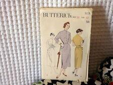 50s Butterick Blouseback Shirtwaister dress Pattern 5228 12/30 bust