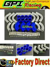 "3"" 76 mm 12PCS Aluminum Universal Intercooler Turbo Piping pipe Kit &BL hose"