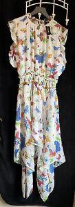 The Kooples Ladies 10 Long Floral Chiffon Dress