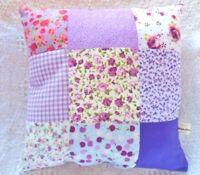 Patchwork Cushion Craft Kit Purple Lilac Fabric Sewing Cushion Kit So Gorgeous!