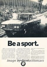 1970 BMW 2800 - Be a Sport - Original Advertisement Print Art Car Ad J700