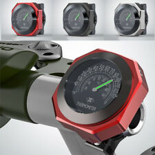 Red Aluminum Motorcycle Thermometer Analogue Temperature Gauge Celsius & °F Dial