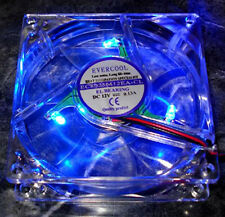 Evercool 80mm x 80mm x 25mm 3 Pin BLUE LED Fan Bulk Packaged with Screws~!