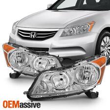 Fit 2008-2012 Honda Accord 4-Door Sedan Headlights L+R Lamp Replacement 08-12
