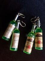 Little Green Bottle Earrings Dangles