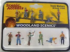 HO Scale Model Railroad Trains Woodland Scenics Track Worker People Figures 1865