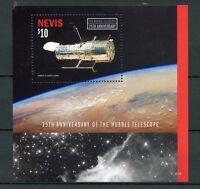 Nevis 2015 MNH Hubble Telescope 25th Anniv 1v S/S Space