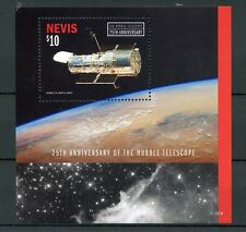 Nevis 2015 MNH Hubble Telescope 25th Anniv 1v S/S Space