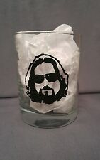 The Big Lebowski Hand Painted Cocktail Mixed Drink Glass White Russian Christmas