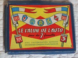 Rare ! Ancien JEU de 7 FAMILLES / LE SALON DE L'AUTO / Complet dans sa boite !