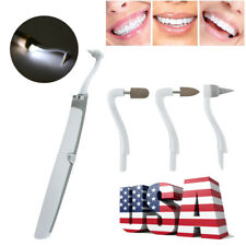 Sonic LED Tooth Stain Eraser Polisher Dental Stain Plaque Remover Grinding Kit