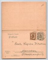 Bavaria 1906 Duplex Reply Card Entire / FREISING CDS - Z13544