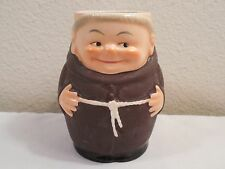 "Vintage Goebel Ceramic Monk Friar Figurine Mug Cup ~ Western Germany ~ 4"" Tall"
