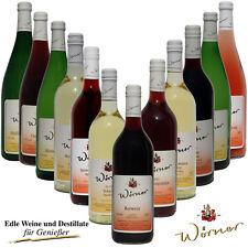 WEINGUT WÖRNER: 12 Fl. Wein Probierpaket, Weißwein Rotwein lieblich, Weinprobe