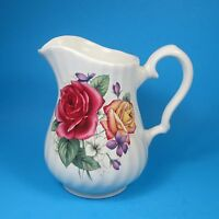 Royal Caldone Cerecraft Small Pitcher Roses Violets Made in England