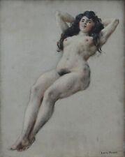 Louis BEROUD (1852-1930) Nu féminin étude Léon Bonnat Lavaste Gourdet érotique
