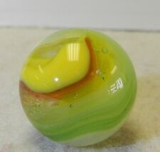 9425m Larger .72 Inches Red Green and Yellow Hybrid Akro Agate Popeye Marble