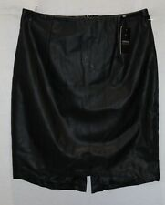 LIMITED EDITION Brand Black Faux Leather Skirt Size 10 BNWT #SU25