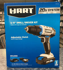 "Hart 20v System 3/8"" Drill / Driver Kit New"