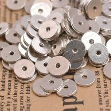 20/50/100Pcs Antique Silver Plane Ring Spacer Beads Findings 10MM CharmJK3079