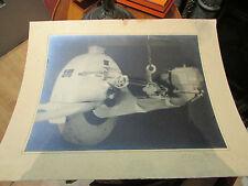 ancienne photo tirage original blanc et demilly outil tour nature morte 29x39cm!