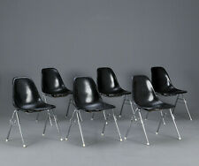Original Vitra Eames Fiberglas Side chair DSS Stuhl schwarz Hermann Miller