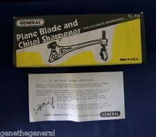 New Original General Tools Vintage #810 Plane Blade & Chisel Sharpener Guide Nos