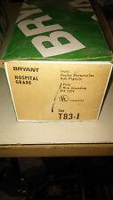 BRYANT T83-I NIB IV DUPLEX DECOR 2P 3W 2A 125V HOSP GRADE RECEP W/ PIGTAILS #A87