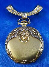 18k Diamonds LeCoultre Pendant Pin Pocket Watch Handmade 1-1.50 ct TDW Working