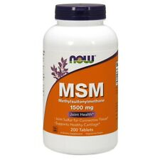 NOW Foods MSM 1500 mg 200 Tablets FREE SHIPPING. MADE IN USA