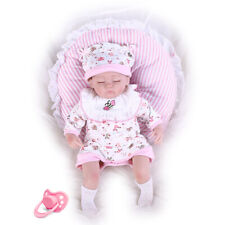 """Pompon Soft Vinyl Silicone Realistic Reborn Baby Dolls Real Life Like 17"""" doll"""