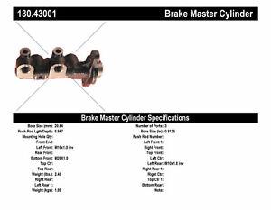 130.43001 Brake Master Cylinder-Natural Centric
