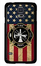 Case Cover for Samsung Galaxy S6 S5 S4 S3 Note 2 3 4 Firefighter Fireman Flag