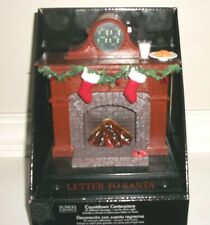 St. Nick's Choice Musical 25-Day Christmas Countdown Centerpiece Fireplace ~NEW~