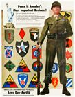 1949 US Army 1st Cavalry 10th Mountain 11th 82nd 101st Airborne new poster 18x24
