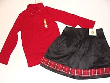 Gymboree Merry Occasion Girls Size 5 Christmas Skirt Top Red Turtleneck  NWT