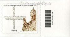 2014 francobollo Canonizzazione Papa Giovanni XXIII SX CODICE A BARRE 1588