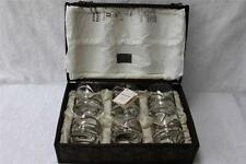 ANORINVER DECORATED DOF GLASSES WITH TRUNK BOX - MADE IN SPAIN - SET OF 6