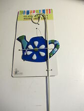 Glass Garden Stake. Stained Glass Ornament on a Stake. Shapes Vary.  Pretty.