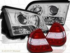 1994-2000 Mercedes C-Class Sedan 4-Pin Clear Projector Headlights + Tail Lights