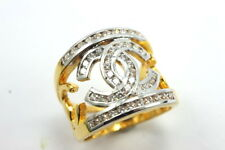 LOOK! Superb Thai Fashion Chic CZ RING Size 9 22K 24K Gold gp Jewelry GT10