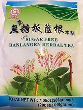 SUGAR FREE - Ban Lan Gen Granule -Isatidis Root  - 7.05oz x 20 Bags