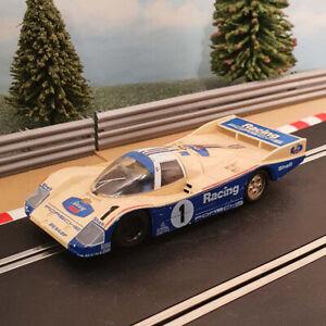 Scalextric 1:32 Car - C444 PORSCHE Racing 962c Le Mans White *LIGHTS* #1 #V2